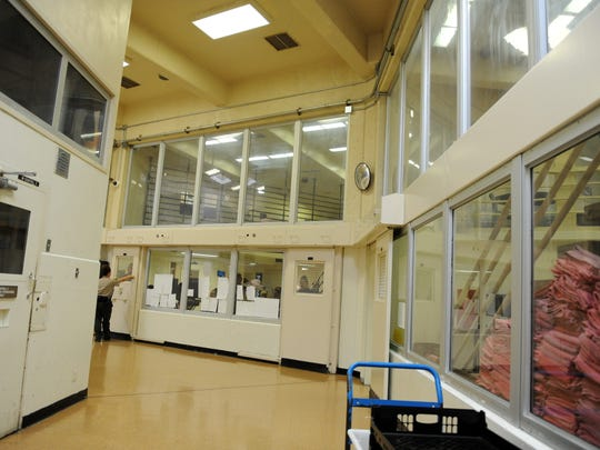 A general view of part of the women's section of the Monterey County Jail in Salinas.