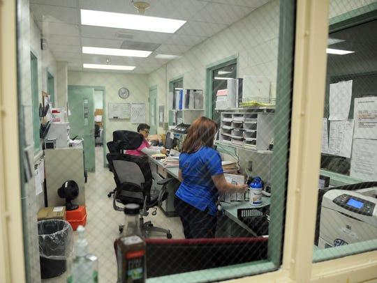 Medical staff at work in the Monterey County Jail in