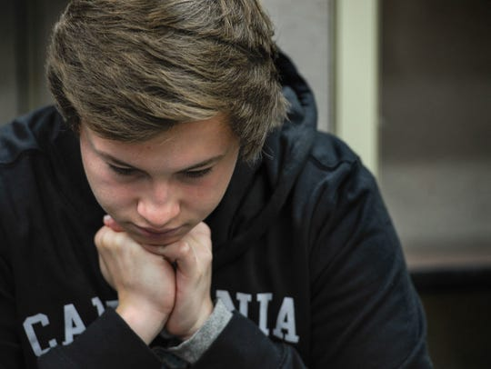 Jack Taylor,17, stops to think about how he became