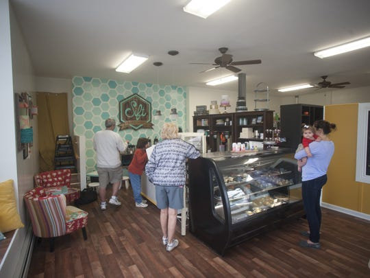 Customers check out the sweet treats at Sift Bakeshop, a new bakery that opened on the White Horse Pike in Haddon Township.