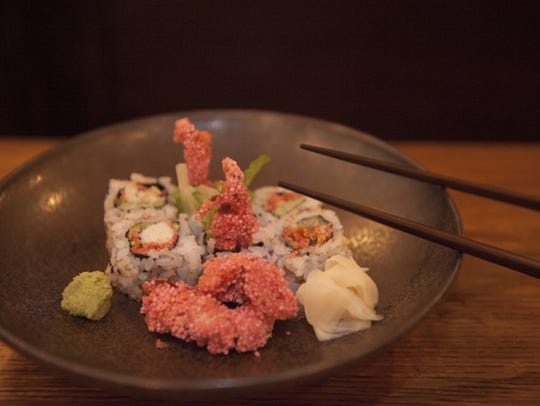 A Spider Roll is on the menu at the Royal Izakaya Restaurant