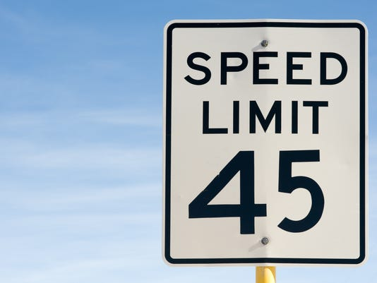 Forty Five 45 Miles Per Hour Speed Limit Sign