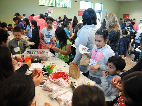 A wealth of arts and crafts activities were available during the César Chávez Library's fourth annual Snow Day in east Salinas.