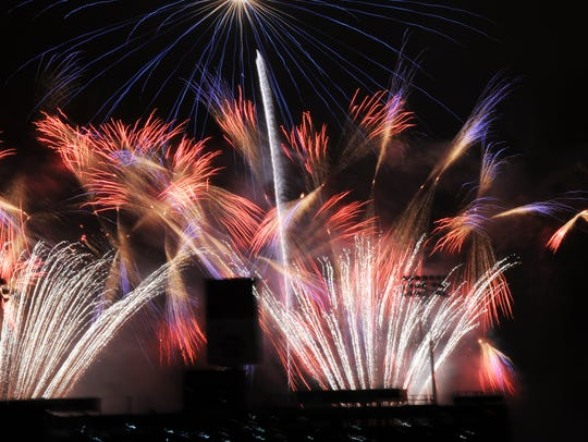 FILE: Fireworks streak the sky the 2016 July 4th celebrations