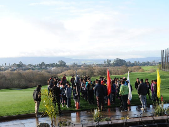 Elementary school students visit The First Tee Monterey County on Thursday, January 12th, 2016.