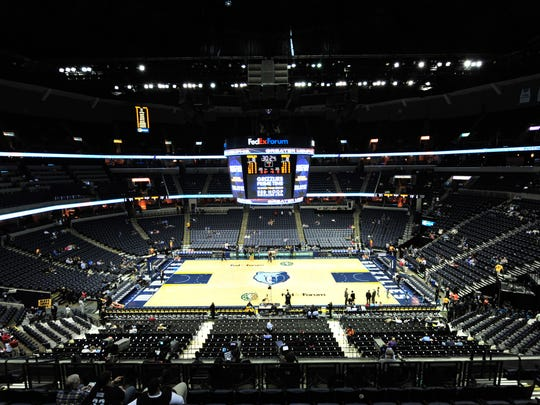 FedEx Forum, home to the NBA's Memphis Grizzlies and the University of Memphis basketball program.