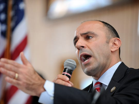 Congressman Jimmy Panetta (D-Calif.) speaks during a packed immigration town hall on Sunday at Hartnell College in Salinas.