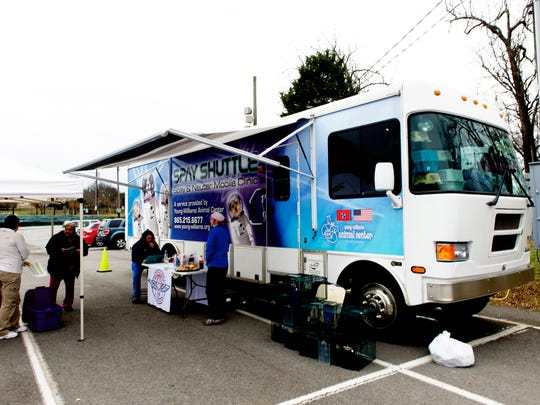 The Spay Shuttle at Chilhowee Park on Tuesday, Feb. 14, 2017. The mobile spay/neuter surgical clinic is two years past its 10-year life expectancy. Replacing it will cost $367,000.