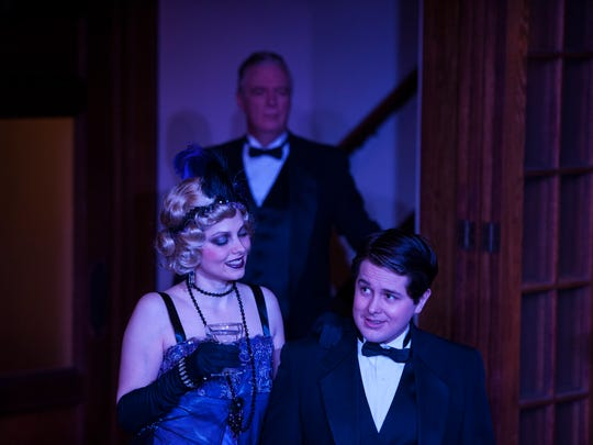 The Cat's Meow: Actors Peter J. Doyle (in the background); Sean Michael Smith and Marcy J. Savastano.