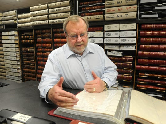Taylor County Clerk Larry Bevill oversees the preservation of records at the Taylor County Courthouse.