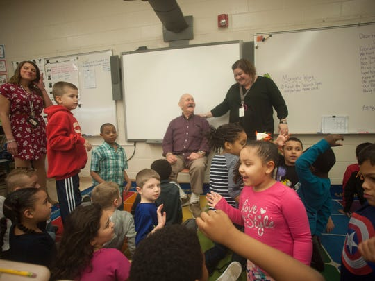 Second graders in Betty Lou William's class at Rieck