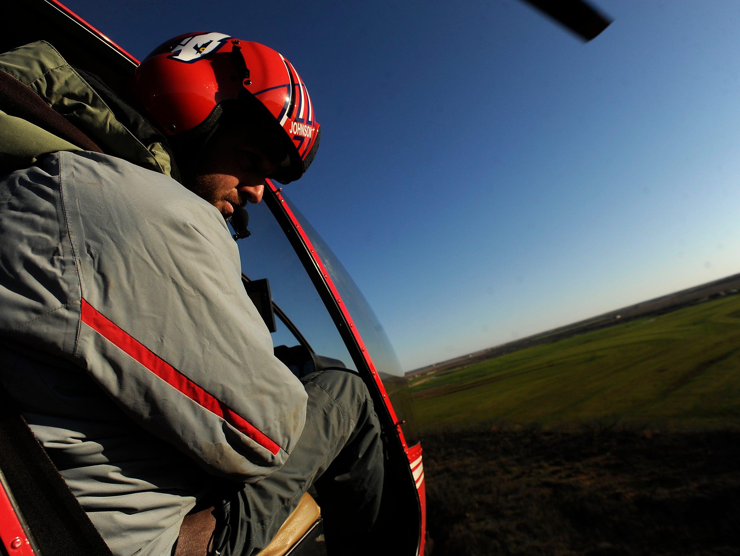 Cedar Ridge Aviation owner/pilot Dustin Johnson looks