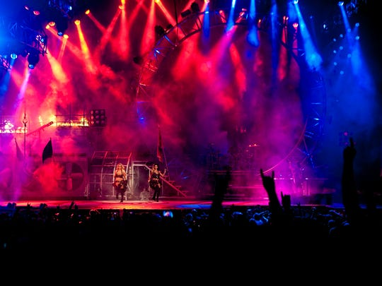Motley Crue in concert at Jiffy Lube Live in Bristow