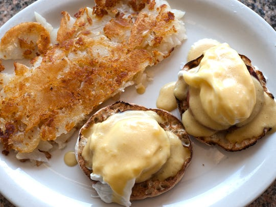 Eggs Benedict dish is a savory option at Crystal Lake Diner in Haddon Township.