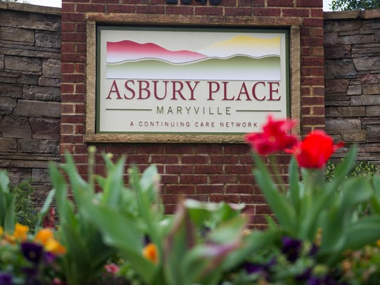 A sign marks the entrance of Asbury Place, a senior living facility in Maryville Tuesday, March 28, 2017. Senior living facilities are expanding due to rising need for their services and Asbury Place is in the midst of a $18.5 million expansion to fill new demand.