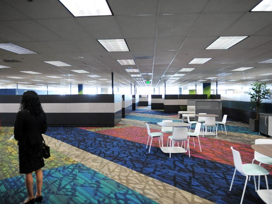 New office spaces for Monterey County employees at the debut on Thursday of 1441 Schilling Place in Salinas.