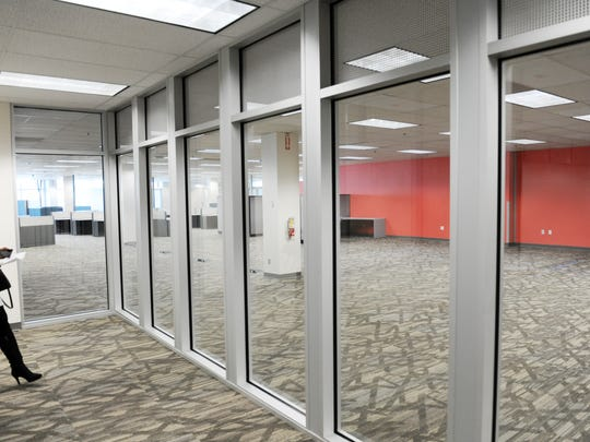 A glassed-in area enables visitors to watch processes at the Monterey County Elections Office, housed at 1441 Schilling Place.