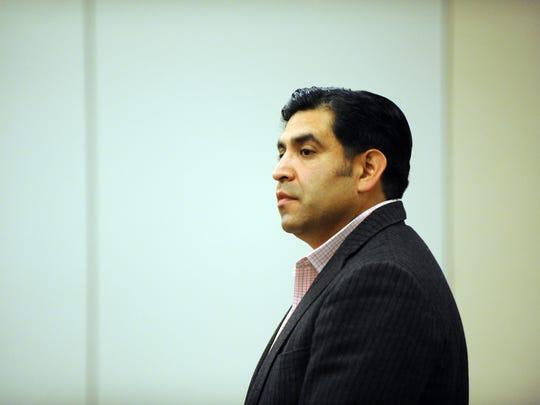 Former Salinas city councilman Jose Castañeda in Monterey County Superior Court on Thursday, April 20th, 2017.