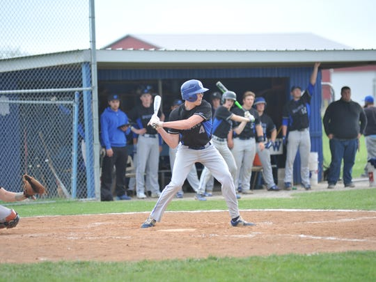 Brandon Shutler was one of the few positives at the plate for Wynford against Seneca East on Friday getting one of the team's three hits.