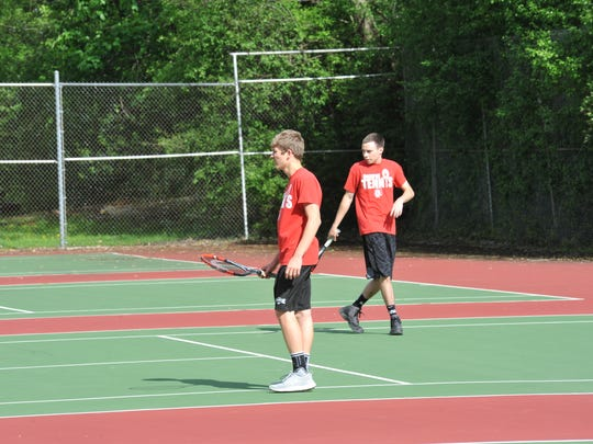 Alex Moore and Clay Shifer will be the doubles pairing Bucyrus will hope can impress in the postseason.