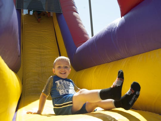 The Youth and Teen Center hosted the Military Children's Carnival on April 22, 2017 at Holloman Air Force Base, N.M. The carnival included bounce houses, bike races, a dunk tank and a DJ providing live entertainment. Inside the center were balloon animal stations, glitter tattoo stations and a fun photo booth.