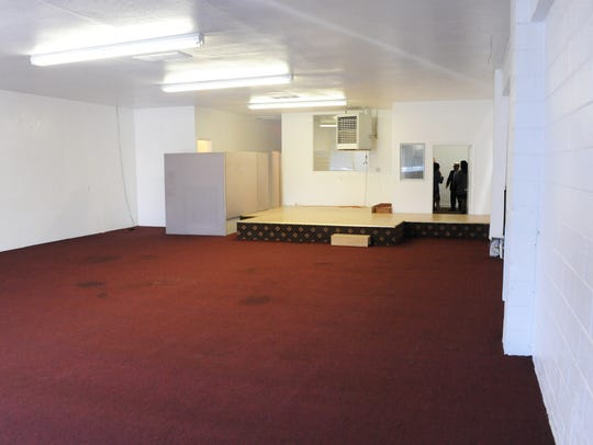 The main room at 20 Soledad Street, which is being
