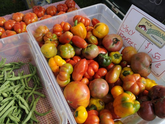 Produce from Crooked Road Farm in South Knoxville awaits
