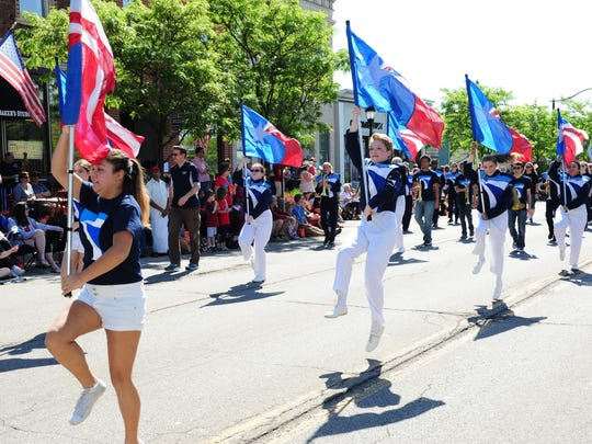 Farmington High Marching Band members dazzle the crowds at this years Memorial Day Parade held Monday morning in Farmington.