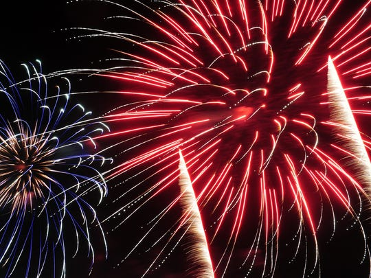 Fireworks will be featured at several Fourth of July