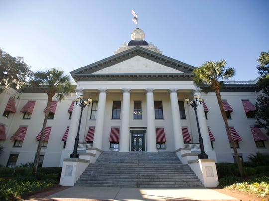 The Florida State Capitol building in Tallahassee.
