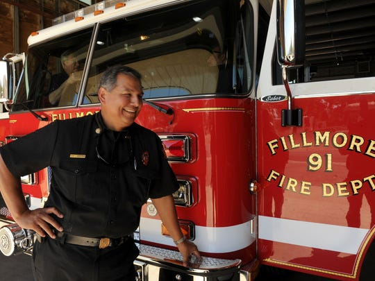 Fillmore Fire Chief Rigo Landeros is all smiles in