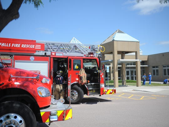 Sioux Falls Fire Rescue responds to a fire on the roof of Southeast Technical Institute Thursday, July 13, 2017.