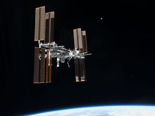 The internet connection aboard the International Space Station is relatively slow due to the distance the data must travel.