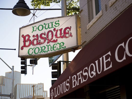 Louis' Basque corner is known for its communal seating and for dishes like sweetbreads and Basque chicken.