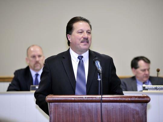 Sandy Stucki  Riverdale Mayor Paul M. Carelli at last