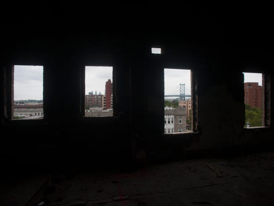 The view from the top floor of the Pierre Building