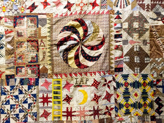 Fine stitching and patterns are seen in some of the