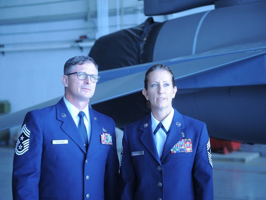 Chief Master Sgt. Michael Clauson and Chief Master