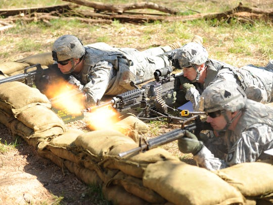 The 506th Infantry Regiment wears a spade on the side