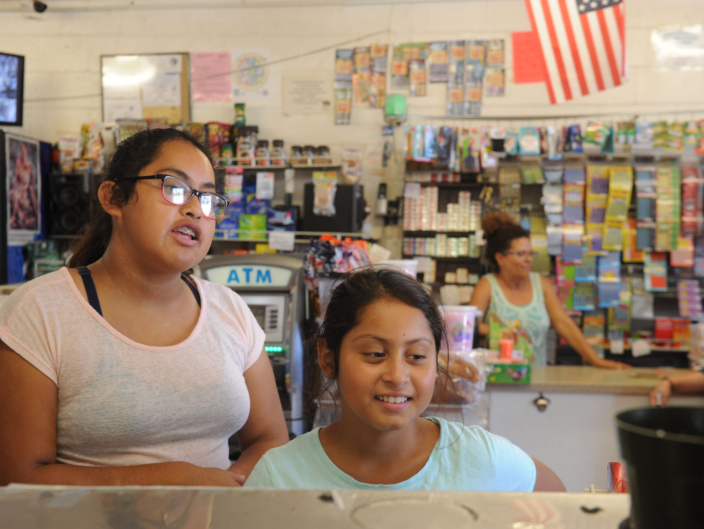 Juana Rodriquez, 15, and her sister Jazmin Rodriquez,