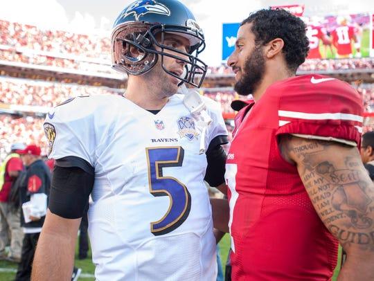 Oct 18, 2015; Santa Clara, CA, USA; Baltimore Ravens