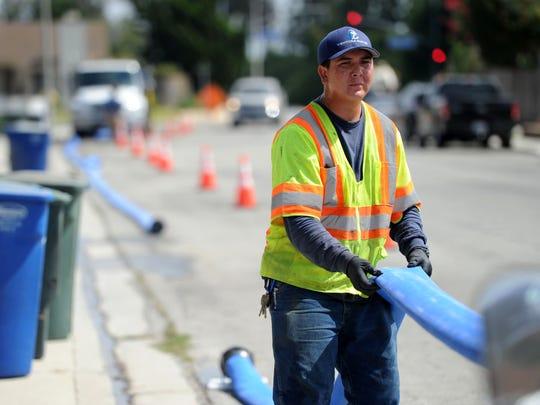 Alexander Gonzales, an operator for Ventura Water,