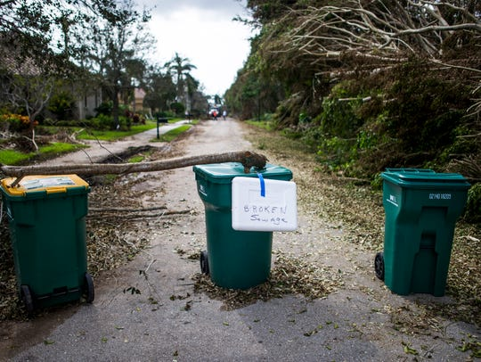 Sewage on Mahogany Bend Drive in Naples on Thursday,