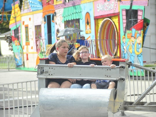 The rides were a popular Friday at the Crestline Harvest