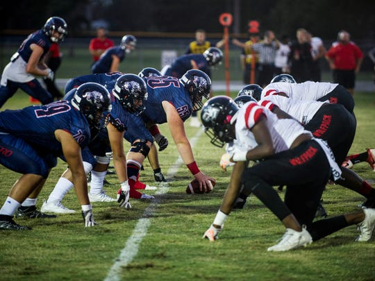 South Fort Myers visited Estero for a high school football showdown on Friday, Sept. 22, 2017.