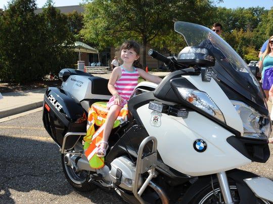 Mia Moeller was ready to hit the road on this Farmington