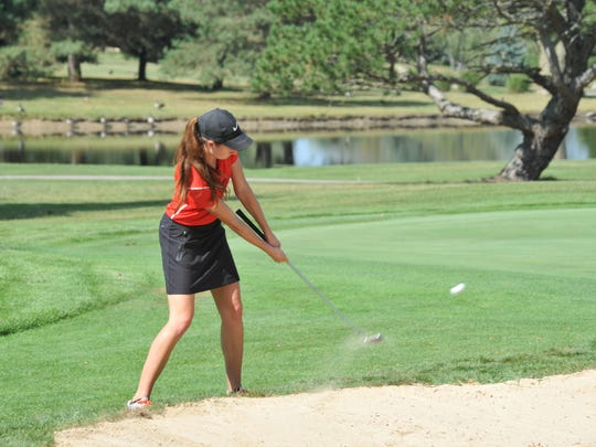 Elizabeth Heydinger's 98 was the low score of the day among the four Crawford County teams.