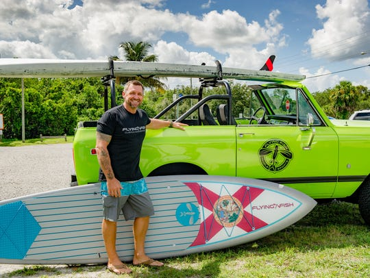 John Meskauskas is owner and stand up paddleboard designer at Flying Fish Paddle Sports in Stuart. The business is hosting a Friday Happy Hour Paddle this weekend.
