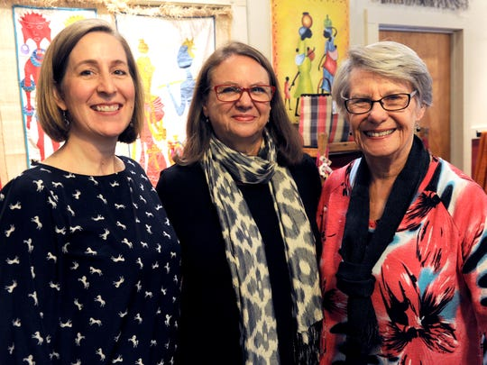 Linda Egle, center, is the founder and director of Eternal Threads. With her are board members Jennifer Eller (left) and Nell Sims Oct. 5, 2017. The store which features Fair Trade artisan products, will close its physical store Oct. 31.