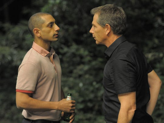 "Scott (Riz Ahmed, left) works for Ray (Ben Mendelsohn) in ""Una."""